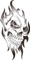 Skull tribal by TheLob