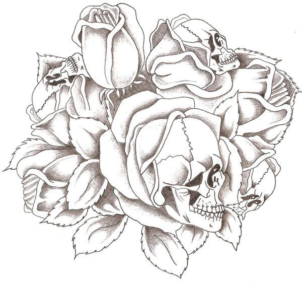 Skulls and Roses by TheLob on deviantART