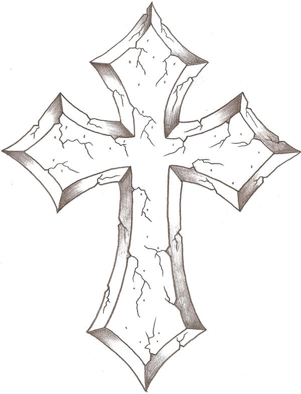 christian cross sketches - photo #28