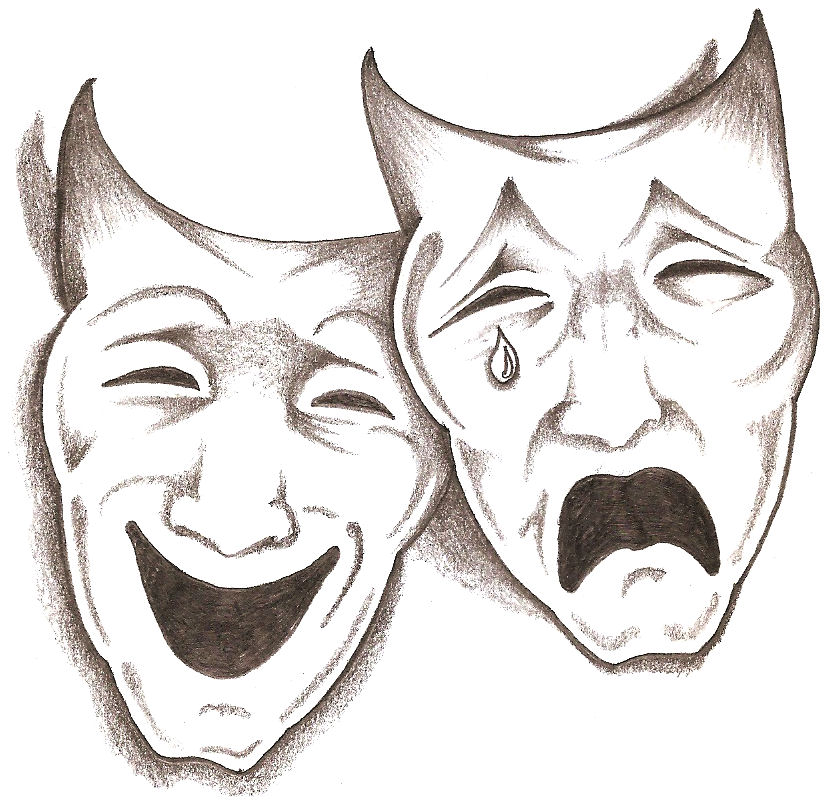 The gallery for --> Drama Masks Drawings