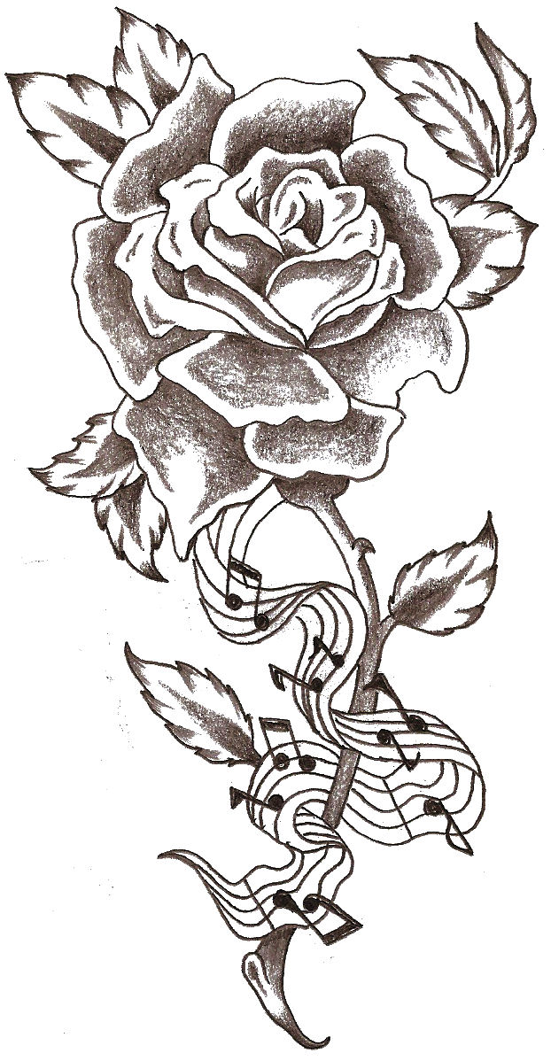 Rose 39 music notes 39 by thelob on deviantart for Rose tattoo song