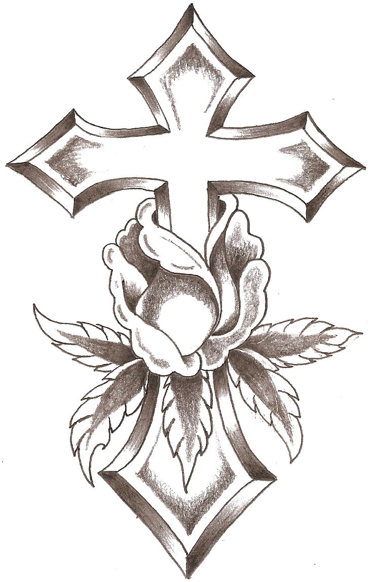 Cross Rose by TheLob on
