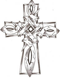 Celtic Stone Cross by TheLob