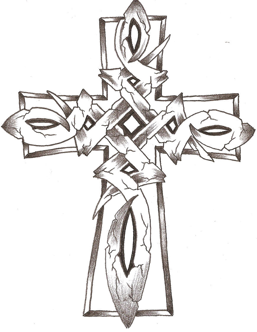 Celtic stone cross by thelob on deviantart for Celtic cross coloring pages