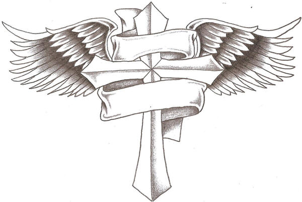 Cool Drawing Of Crosses With Wings | www.imgkid.com - The ...