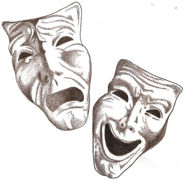 Comedy Tragedy Masks by TheLob on DeviantArt