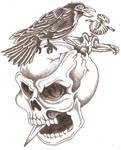 Skull Dagger Crow