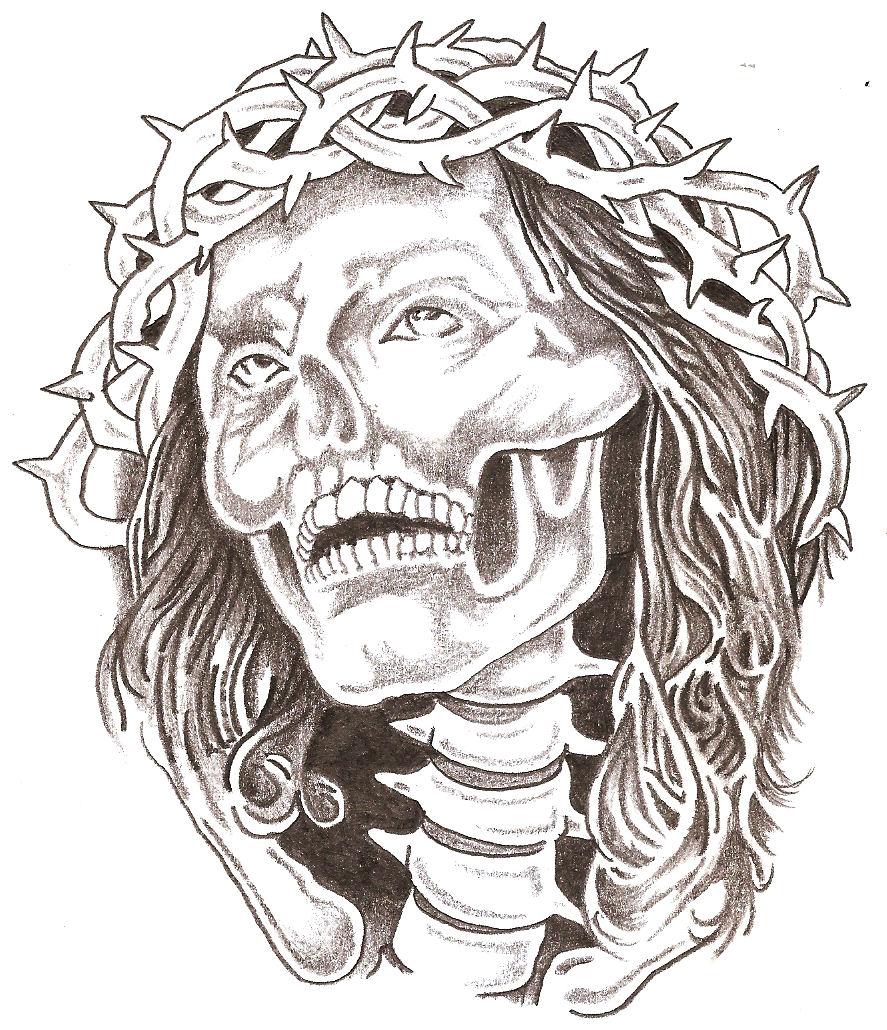 Jesus drawings tattoos