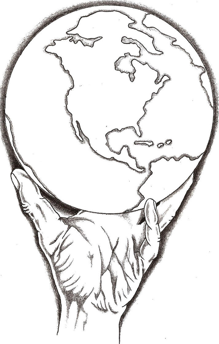 Got the whole world in my hand by thelob on deviantart for World in hands tattoo