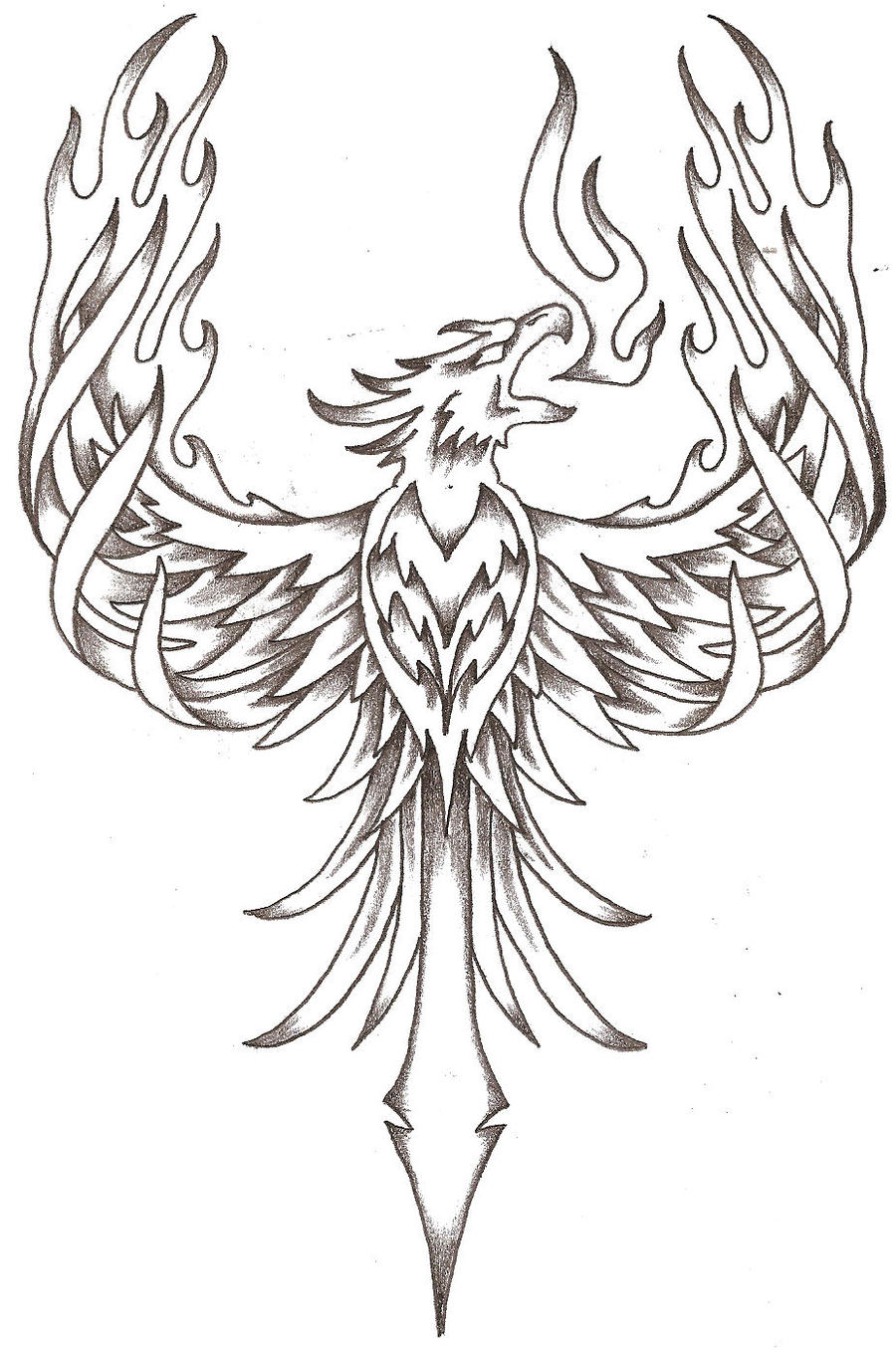 Line Art Free : Phoenix firebird by thelob on deviantart