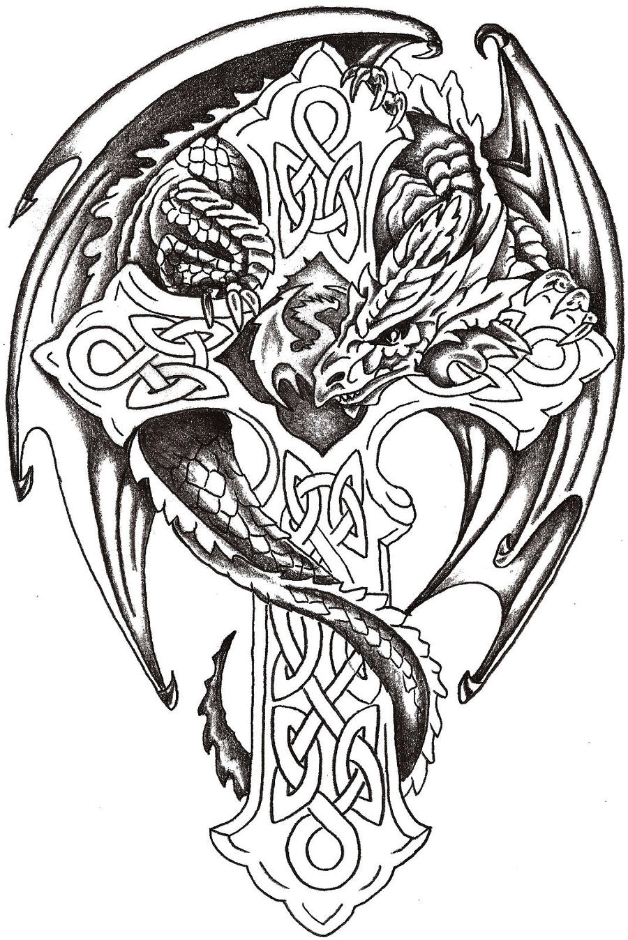 Cool Advanced Coloring Pages : Dragon lord celtic by thelob on deviantart