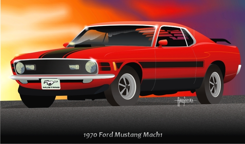 1970 Ford Mustang Mach 1 by mojearpe on DeviantArt