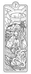 Helheim Sorceress lines by deviantAshtareth