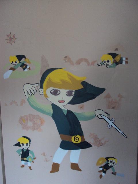 Zelda Mural by Enraric
