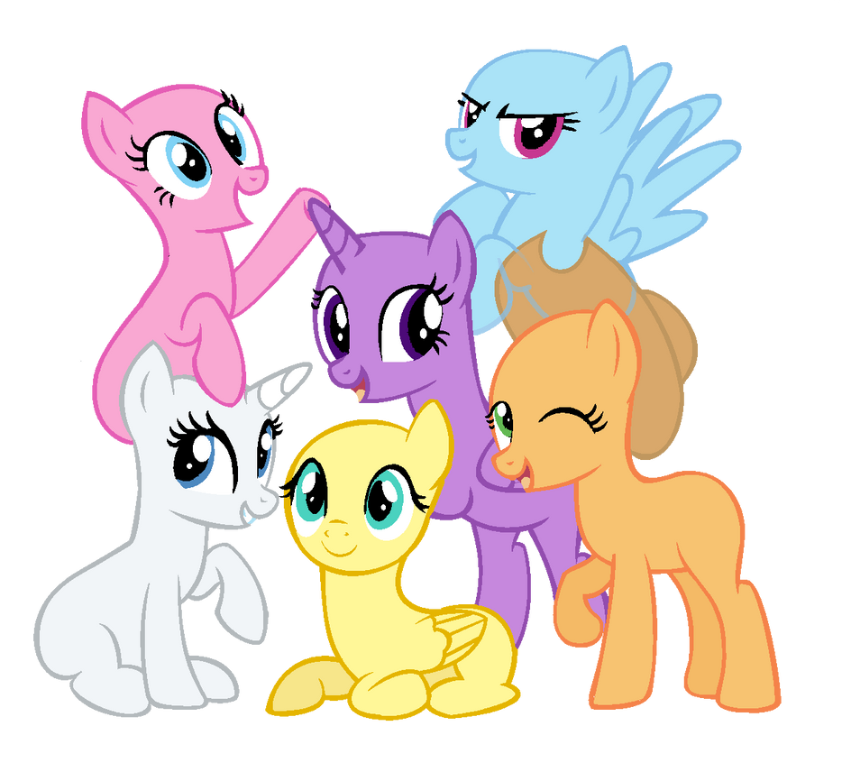 List Of Synonyms And Antonyms Of The Word: Mane 6 Base