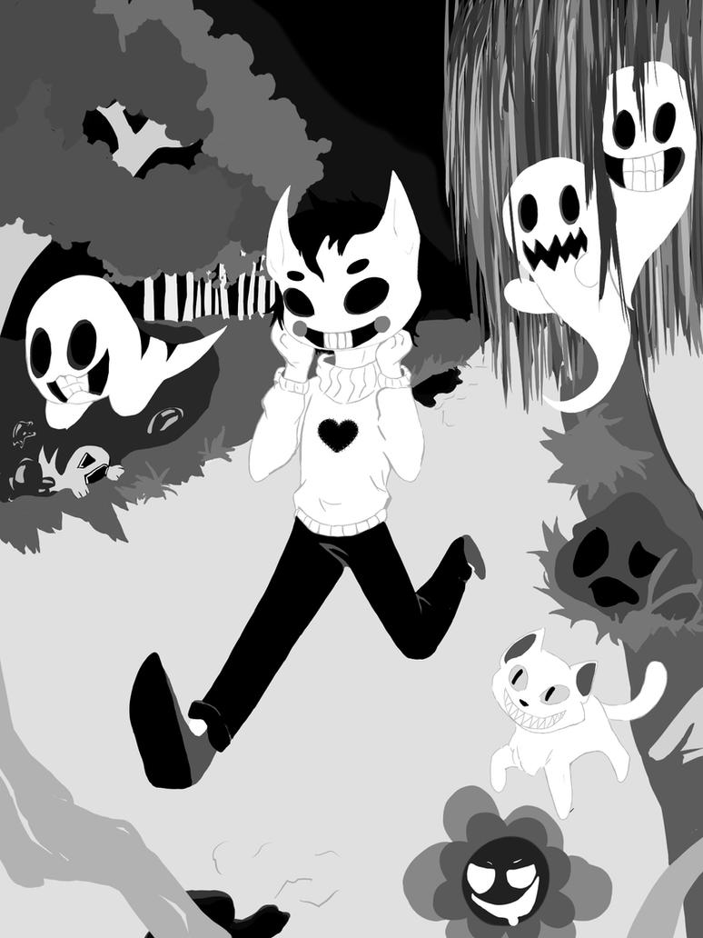Zacharie and Valerie (without any shading yet) by Eisschweif