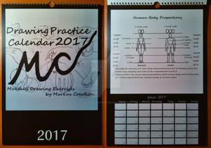 Markus Creation Drawing Practice Calendar 2017