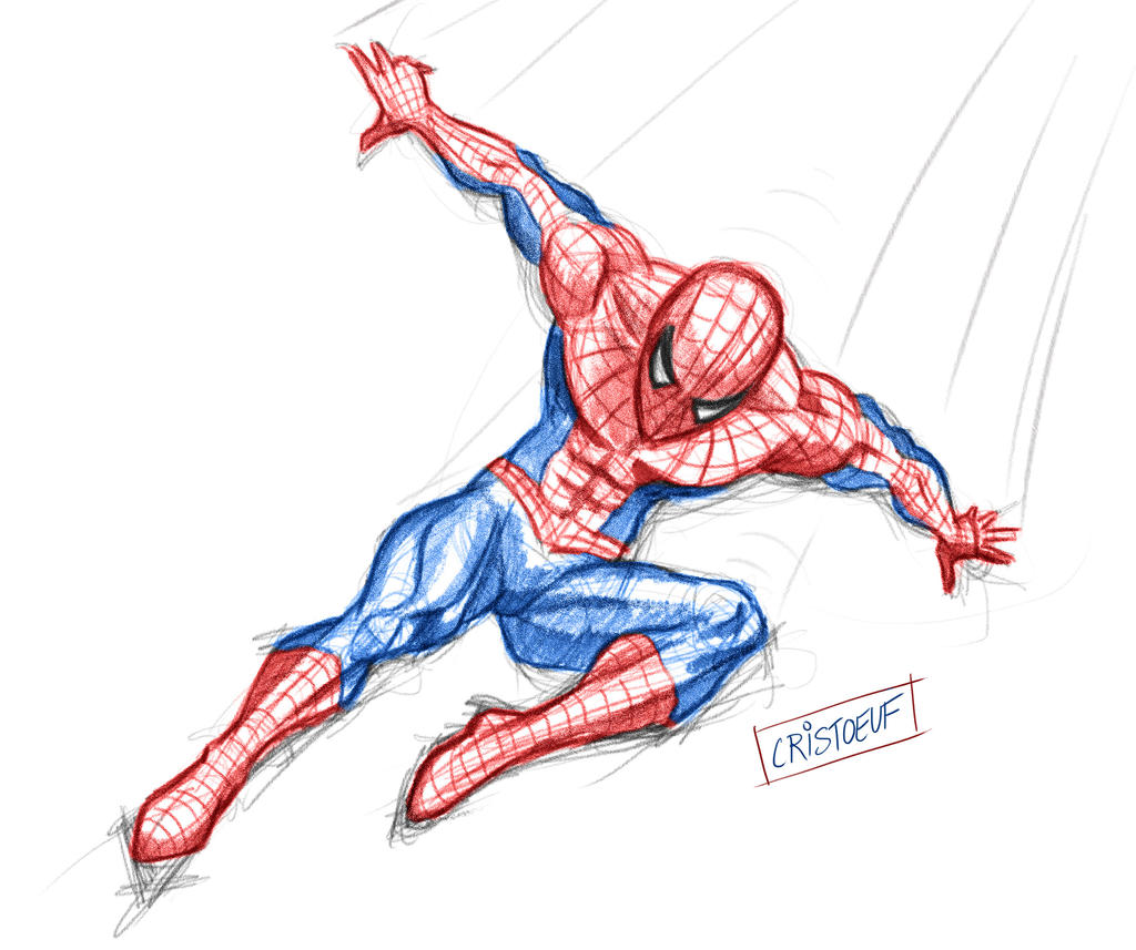 Spiderman Sketch By Cristoeuf On Deviantart