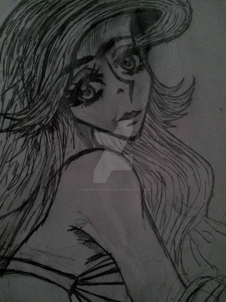 Ariel drawing 2015 by Vampiress-Stocking