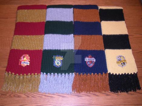 Harry Potter Hogwarts House Scarves
