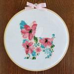 Floral Yorkshire Terrier Cross-Stitch by PiixXxiiE