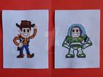 Woody and Buzz Lightyear Cross-Stitch (Toy Story)