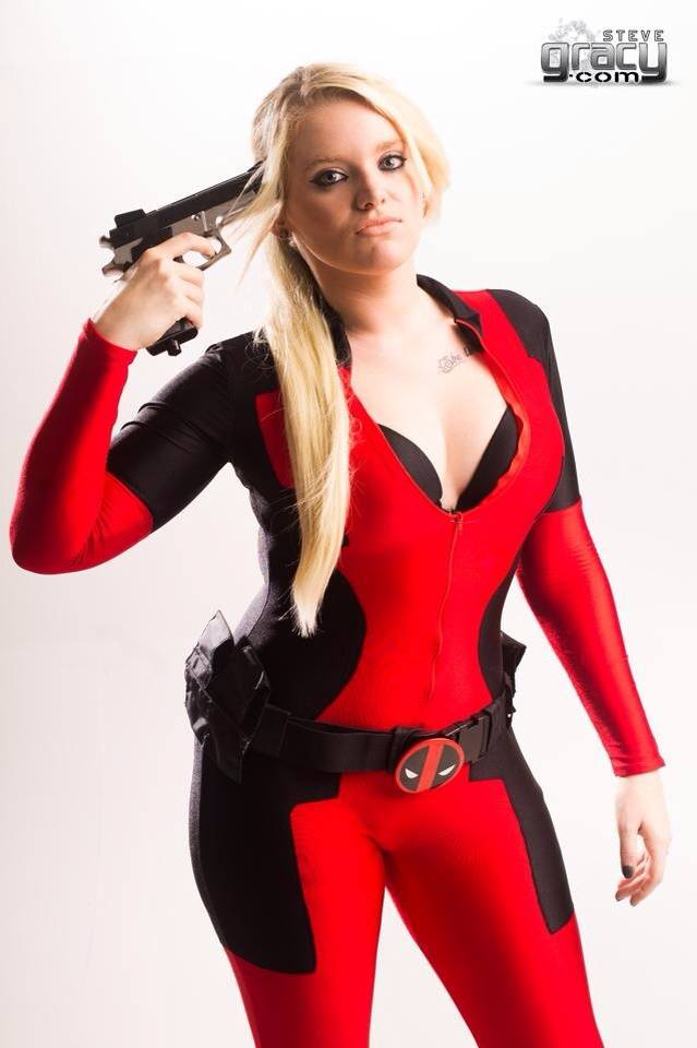 Signed Lady Deadpool Cosplay Print by DYENBOfficial