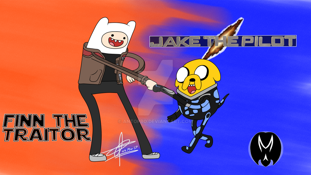 Finn the Traitor and Jake the Pilot by AntoPbo