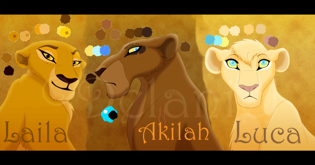 3 Comic Lionesses by LanieJ