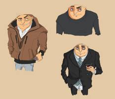 Gru sketches by TheFishAndTheBird