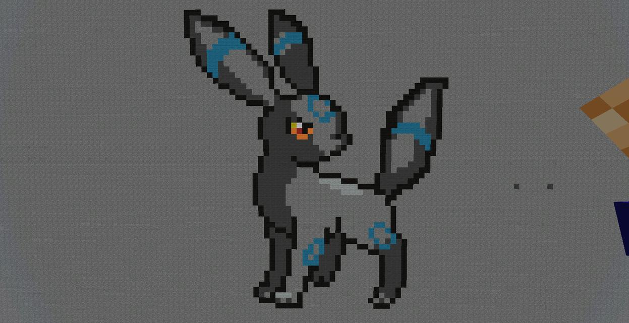 The gallery for minecraft pixel art pokemon umbreon for Umbreon pixel art template