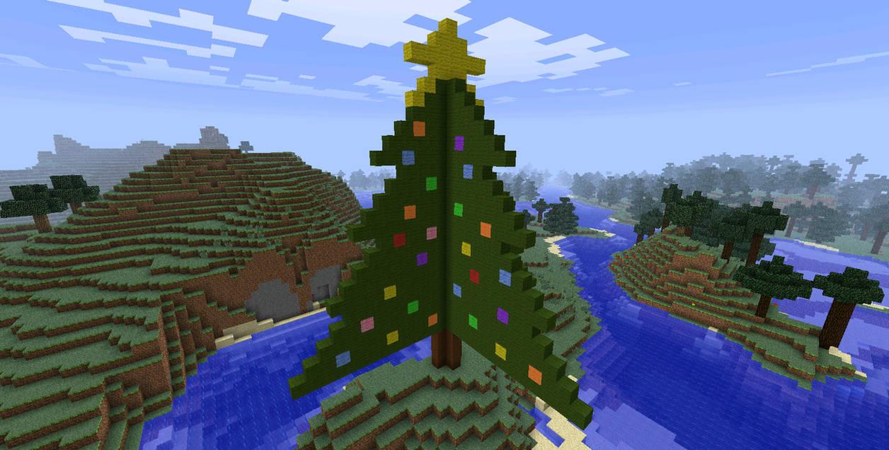 Christmas Tree Minecraft 1 Of 2 By Bakahentai90 On Deviantart