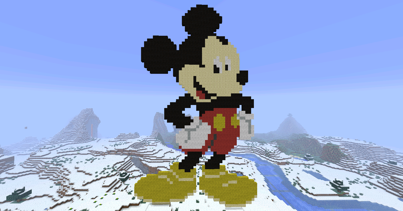 Mickey Mouse Pixel Art mickey mouse minecraft by bakahentai90 on deviantart