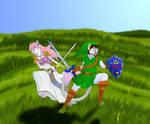Roxy and Flexo-Zelda and Link