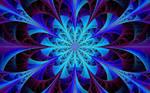 Blue Kaleidoscope Fractal