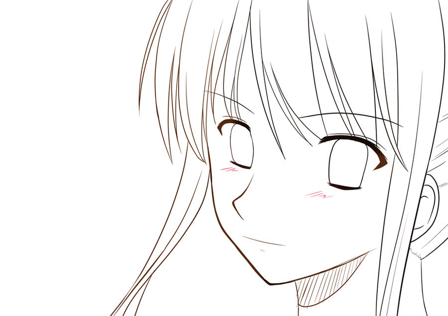 anime girl outline template female anime body outline coloring pages