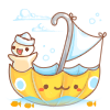 Umbrella Boat by ishiwong