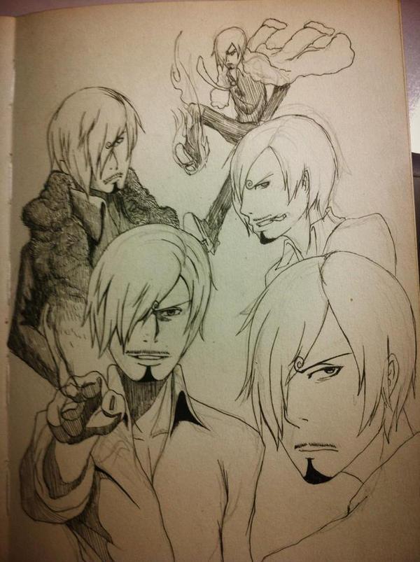 Sanji doodle by SaturdayXII