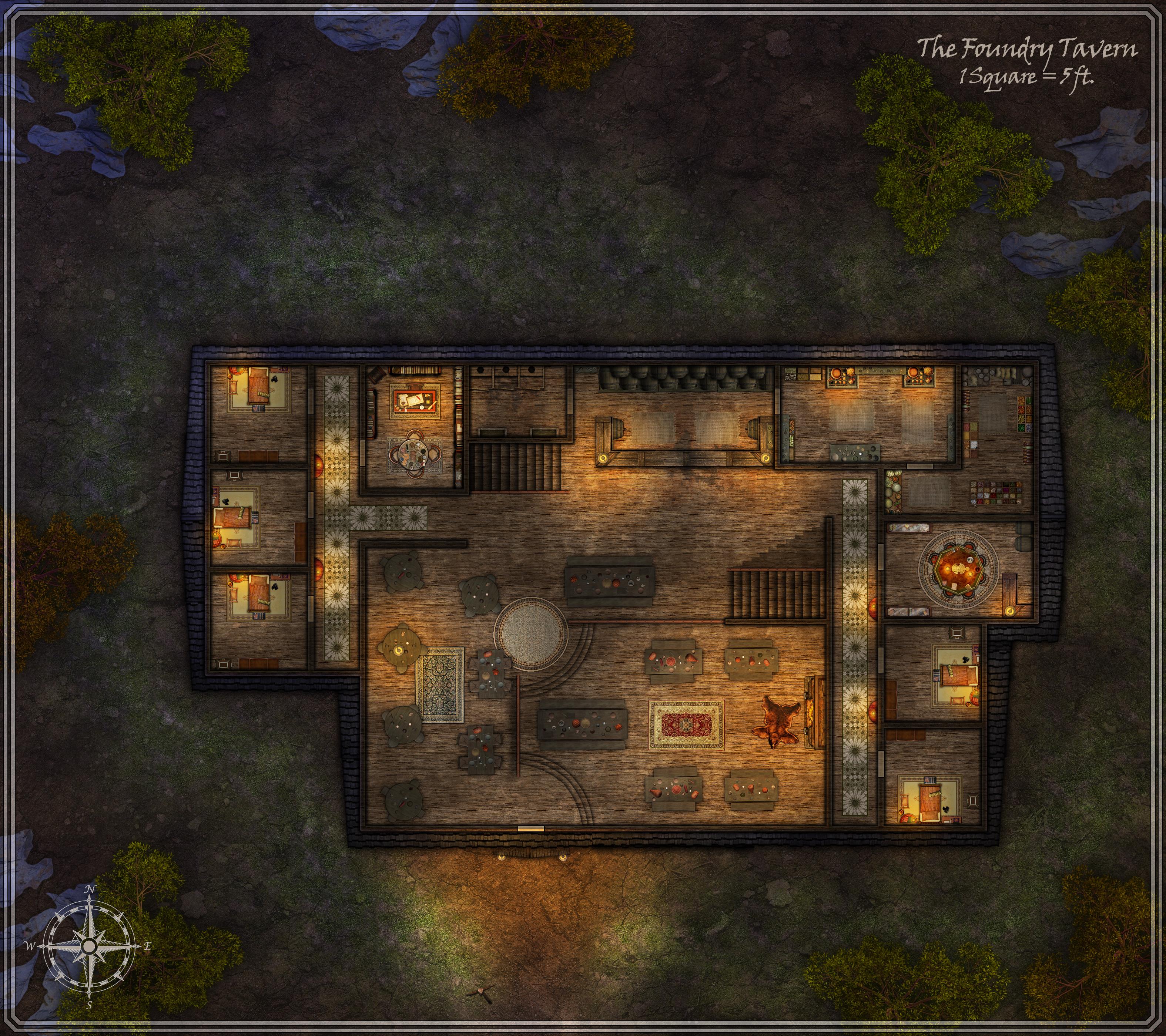 Foundry Tavern at Night by FoundryAtropos