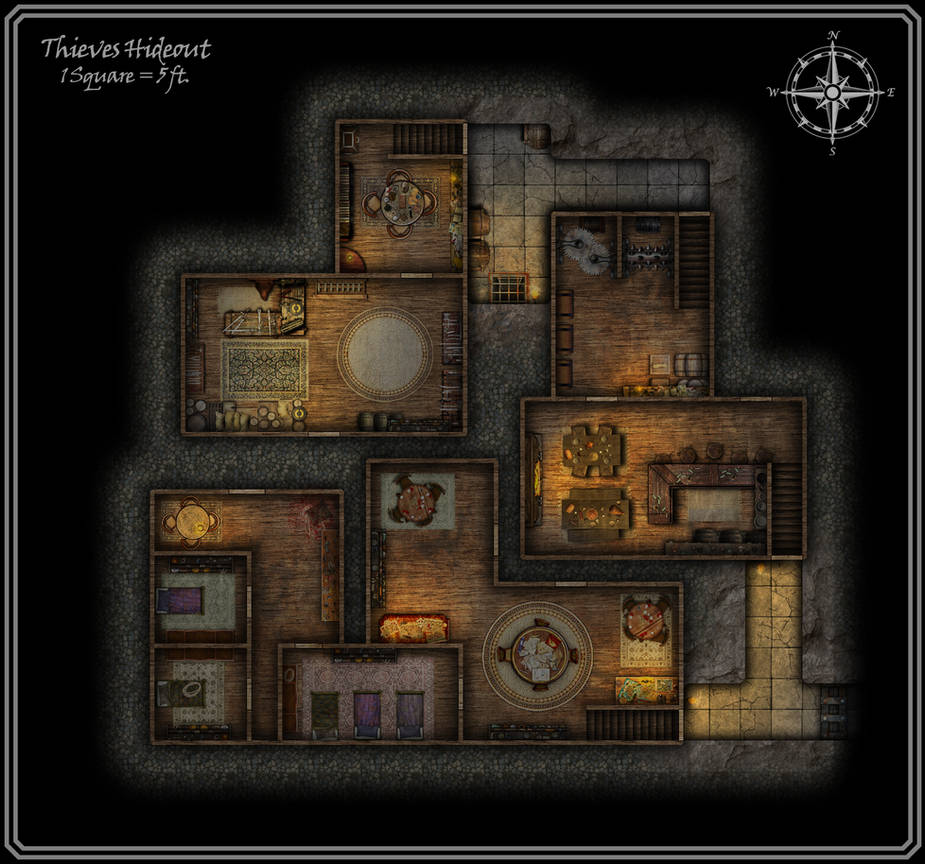 Thieves' Guild Hideout by FoundryAtropos on DeviantArt