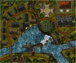 Shadebough Falls - Town Map (Day)