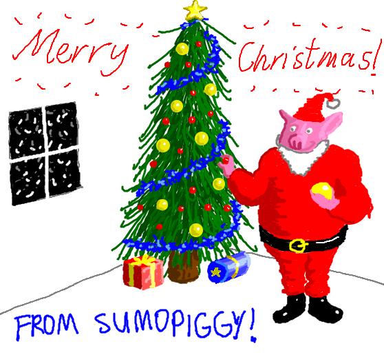 Merry Christmas From Sumopiggy by sumopiggy