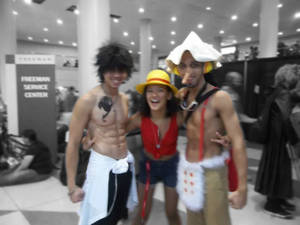 Gray, Luffy, and Usopp - NYCC 2013 Cosplay
