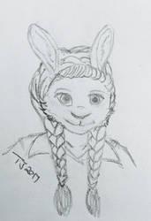Bunny doodle by PandaTJ