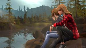 Chloe and Rachel and the doe by nicefieldSFM