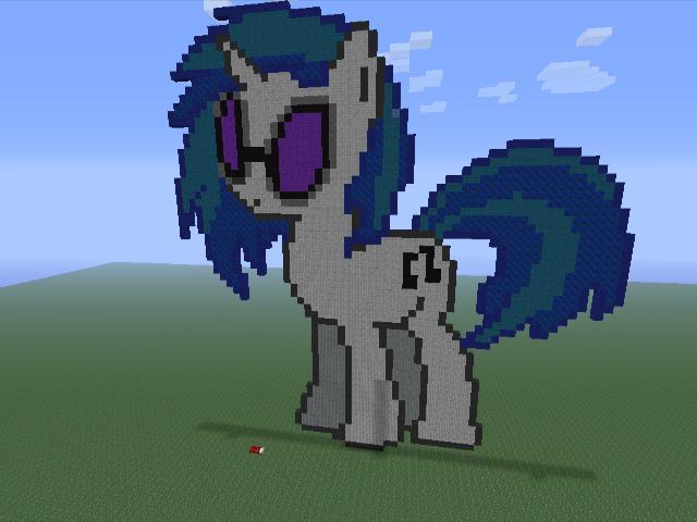 Vinyl Scratch Minecraft Pixel Art By Darkussdude3901 On