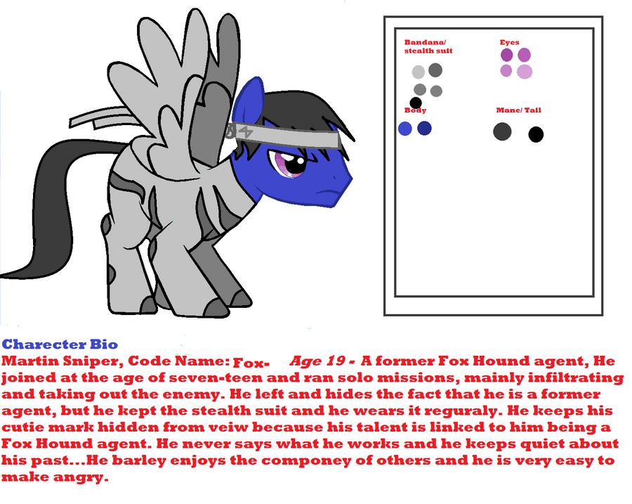 MGS Pony OC: Fox by Darkussdude3901