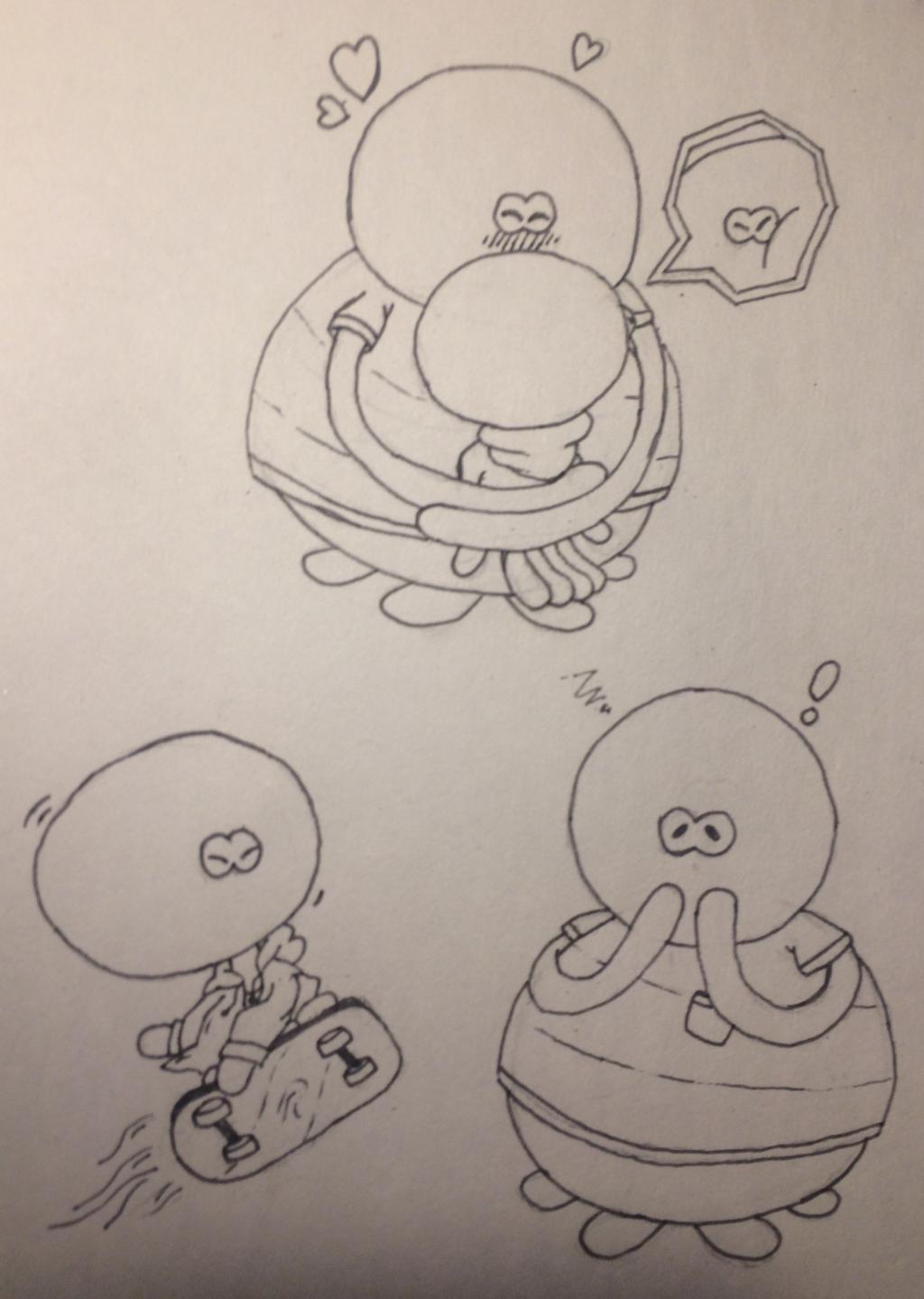 Skwash and Wara Doodles by JamIsNotMyName