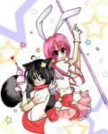 Magical girls- flan and bonbon by miaka-bozu