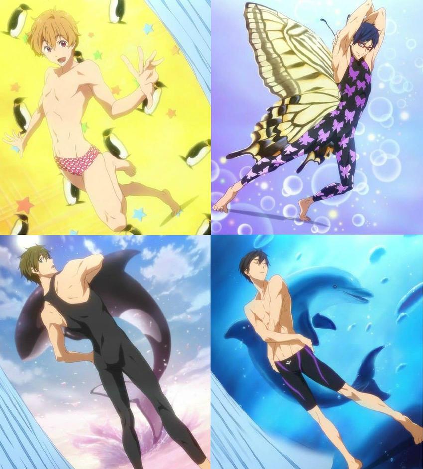 KyoAni - Free! [Swimsuit Fanservice] by CChibitan